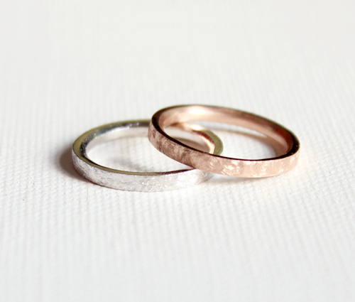 rough line ring(2colors)러프 라인 반지