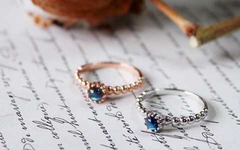 moonstone & labrado circle ring (2types)문스톤&래브라도 써클 반지