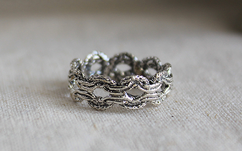 lace knot silver ring레이스 매듭 실버 반지