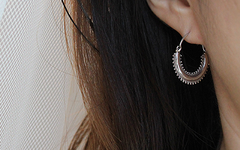 ethnic silver lace ring-earring에스닉 실버 레이스 링귀걸이