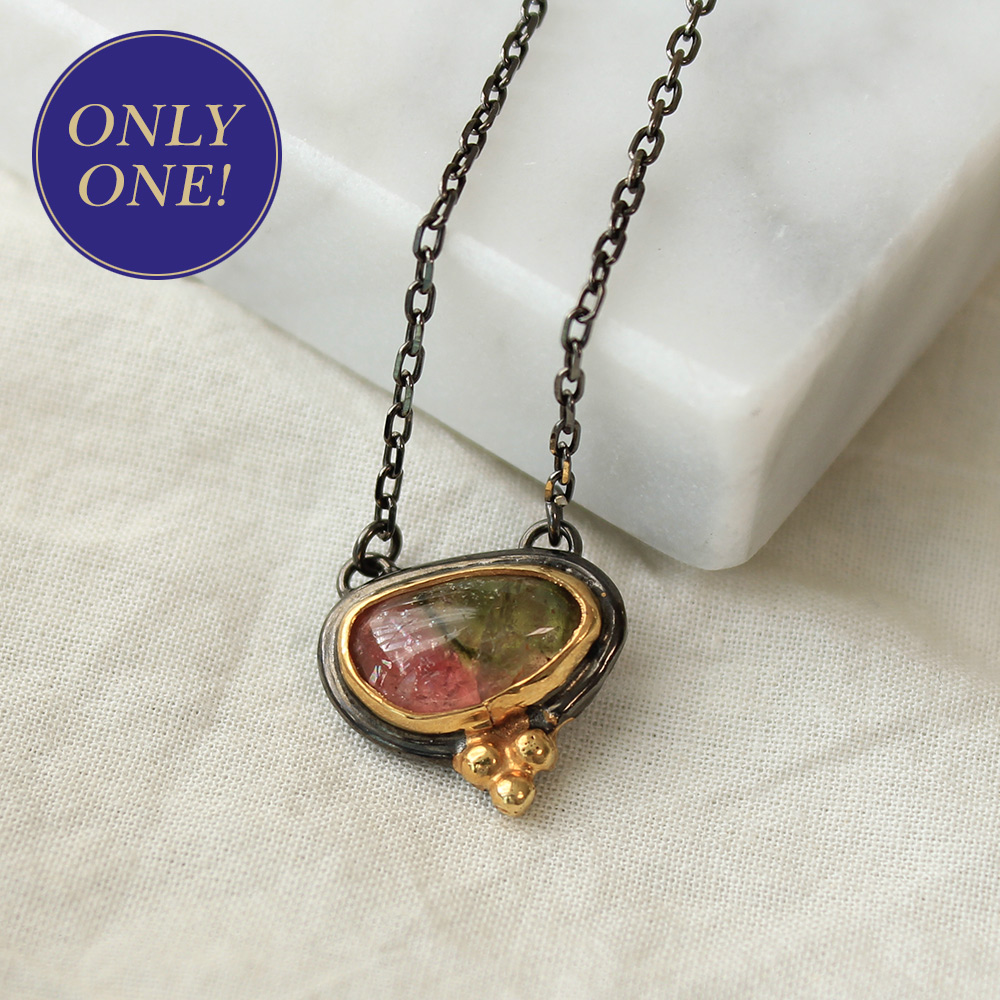 [only one]tourmaline necklace #1