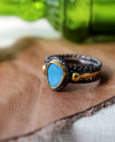[only one]blue opal ring #1블루오팔 반지