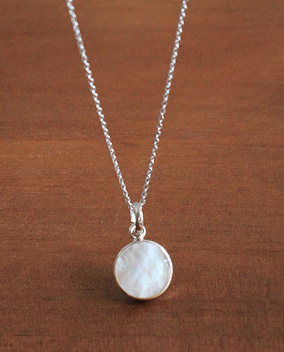 mother pearl pendant necklace자개 팬던트 목걸이