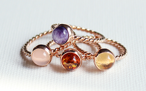 circle love ring(4types)써클 러브 반지