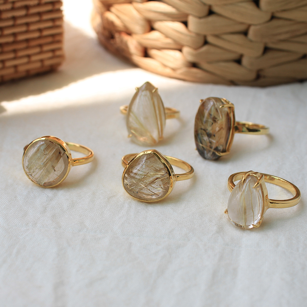 [only one]Rutilated quartz ring #1